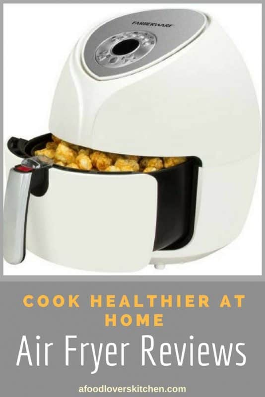 Cook healthier at home with an air fryer that uses less oil to make food crispy and reduces the calorie count