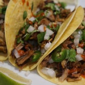 authentic pork carnitas tacos