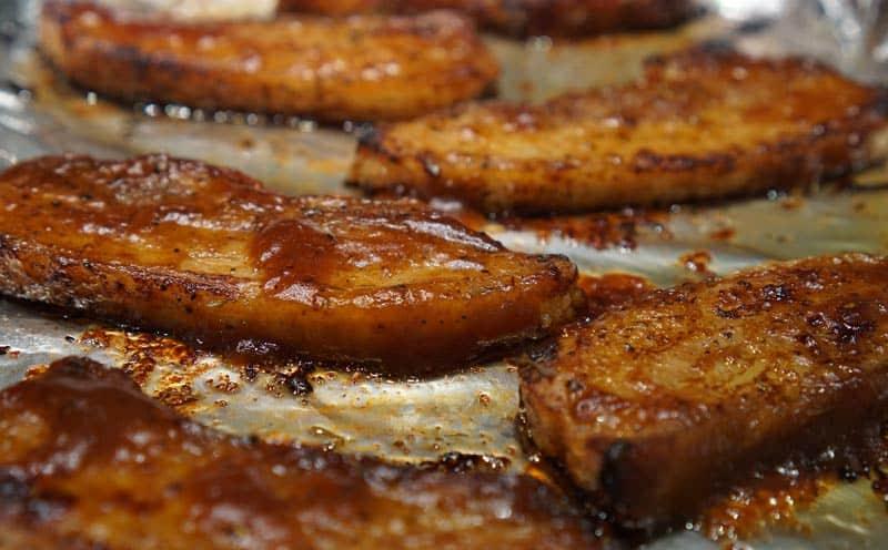bbq pork belly strips