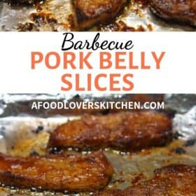 BBQ Pork Belly Slices