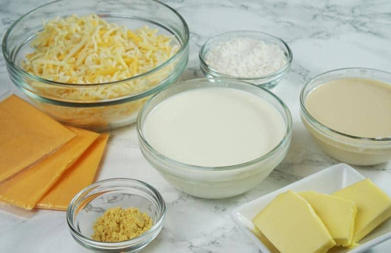 Mac & Cheese ingredients