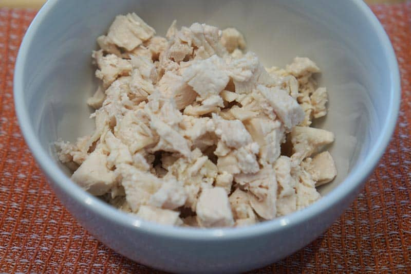 cooked chopped chicken breast