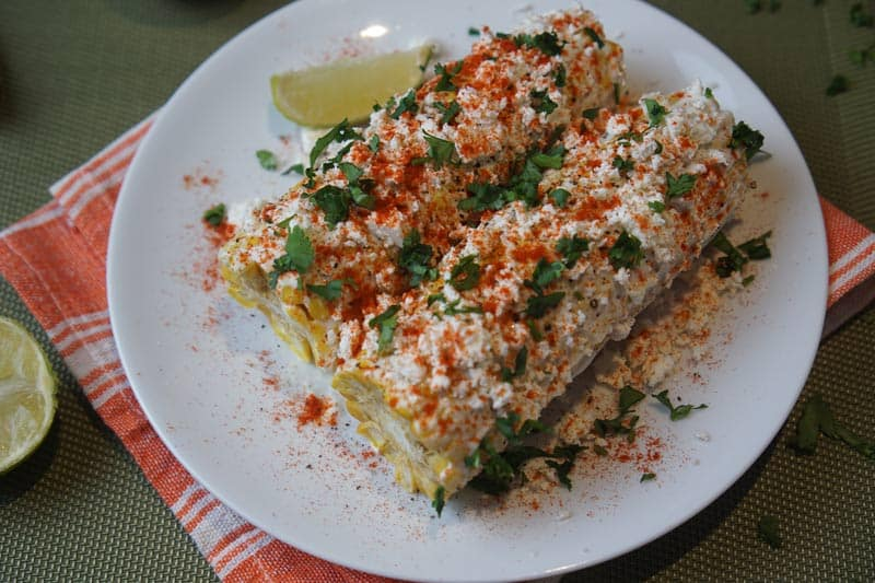 Mexican Corn Plate