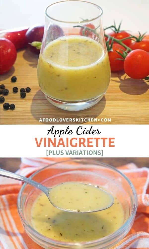 Homemade Apple Cider Vinaigrette