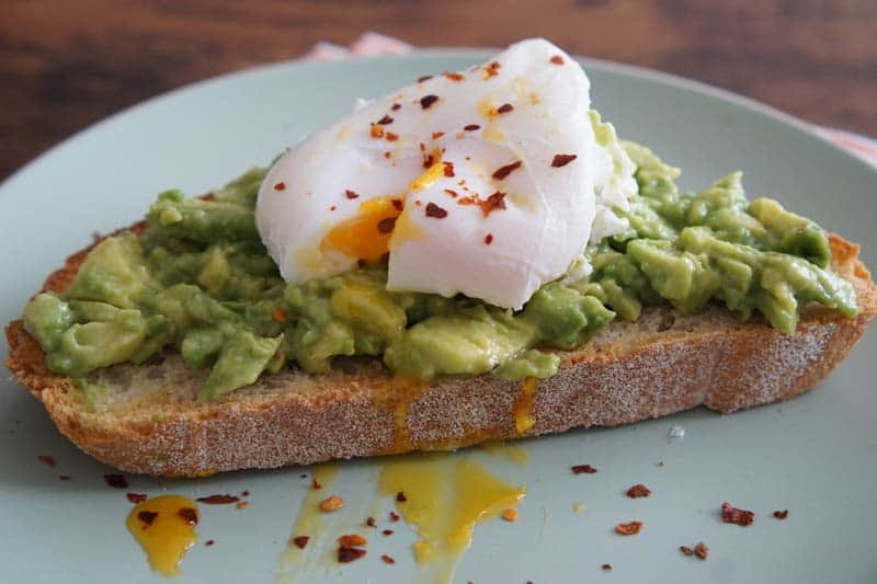 avocado smash on toast