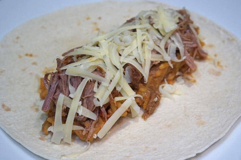 making a wet burrito
