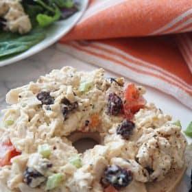 chicken salad on a bagel