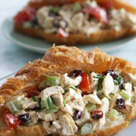 cranberry chicken salad sandwich