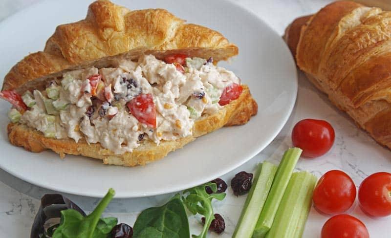 cranberry chicken salad croissant