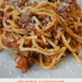 Easy Homemade Spaghetti with Meat Sauce