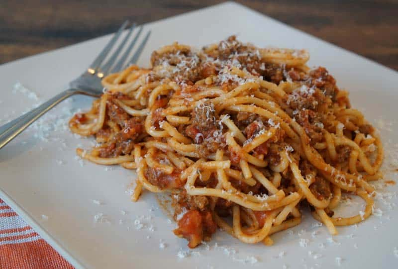 Homemade Spaghetti & Meat Sauce