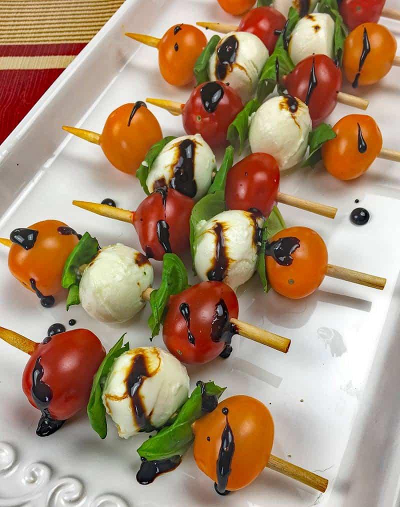 tomato caprese skewers