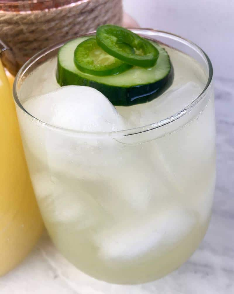 Spiked Jalapeno & Cucumber Lemonade