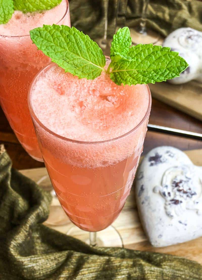 Mint Grapefruit Mimosas