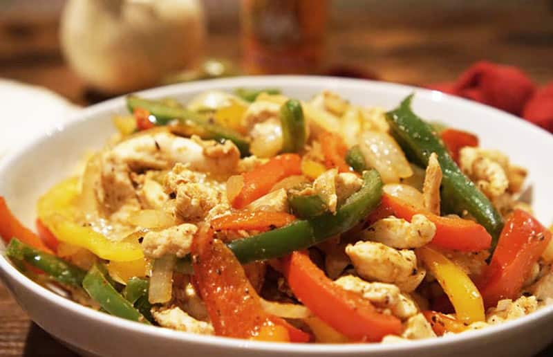 chicken fajita filling