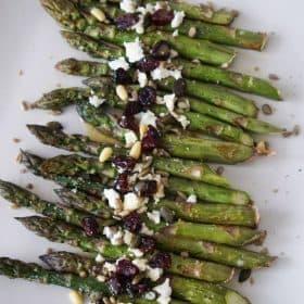 roasted asparagus salad