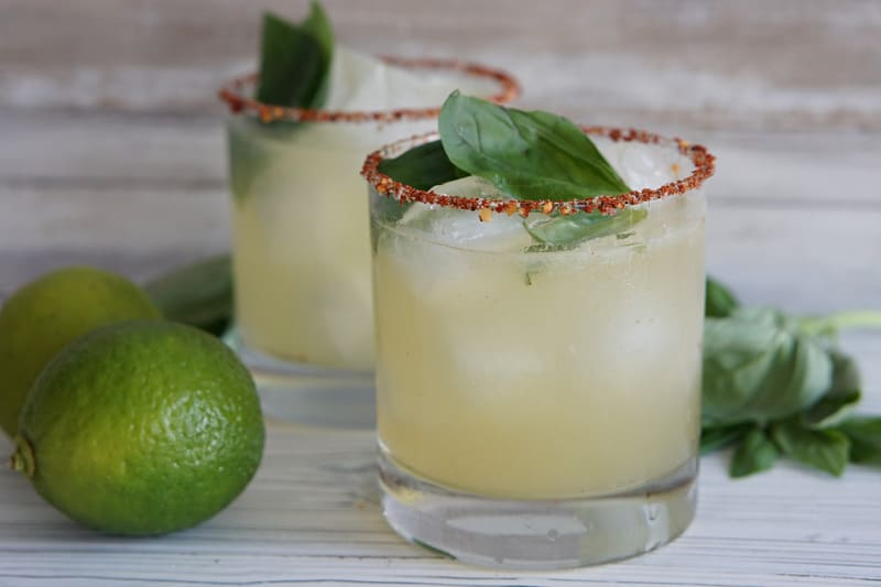 Smoky Basil Oaxacan Mezcal Cocktail