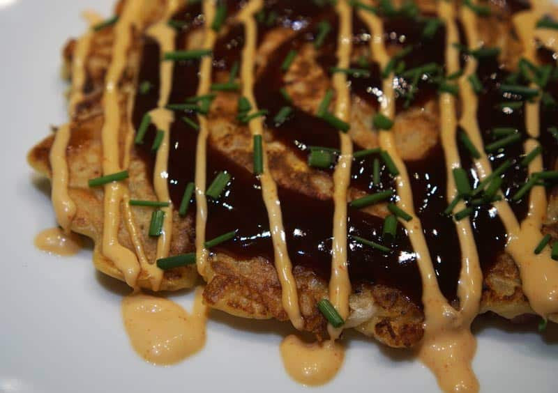 okonomiyaki all dressed up