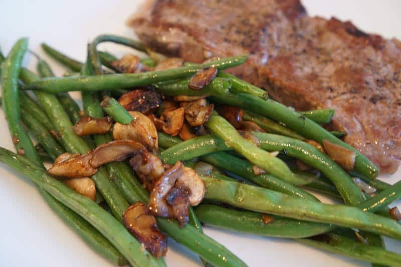 green beans with steak