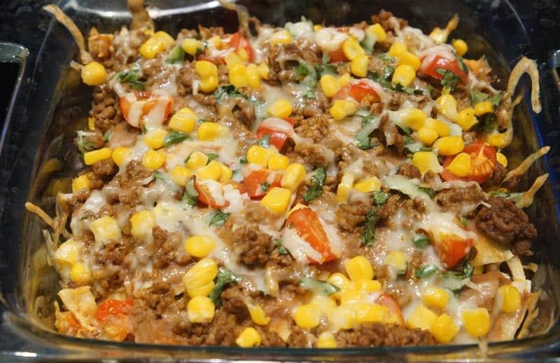 cooked taco lasagna