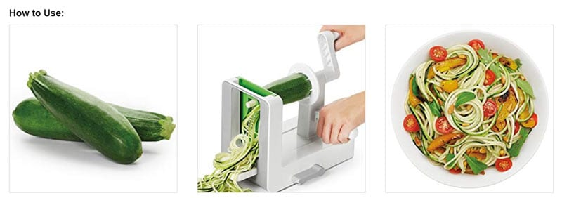 How to use a spiralizer