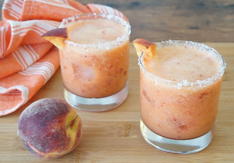 peach Mezcal Margaritas