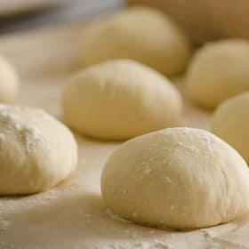 pizza dough ready to roll out