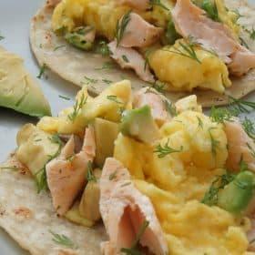 salmon breakfast tacos