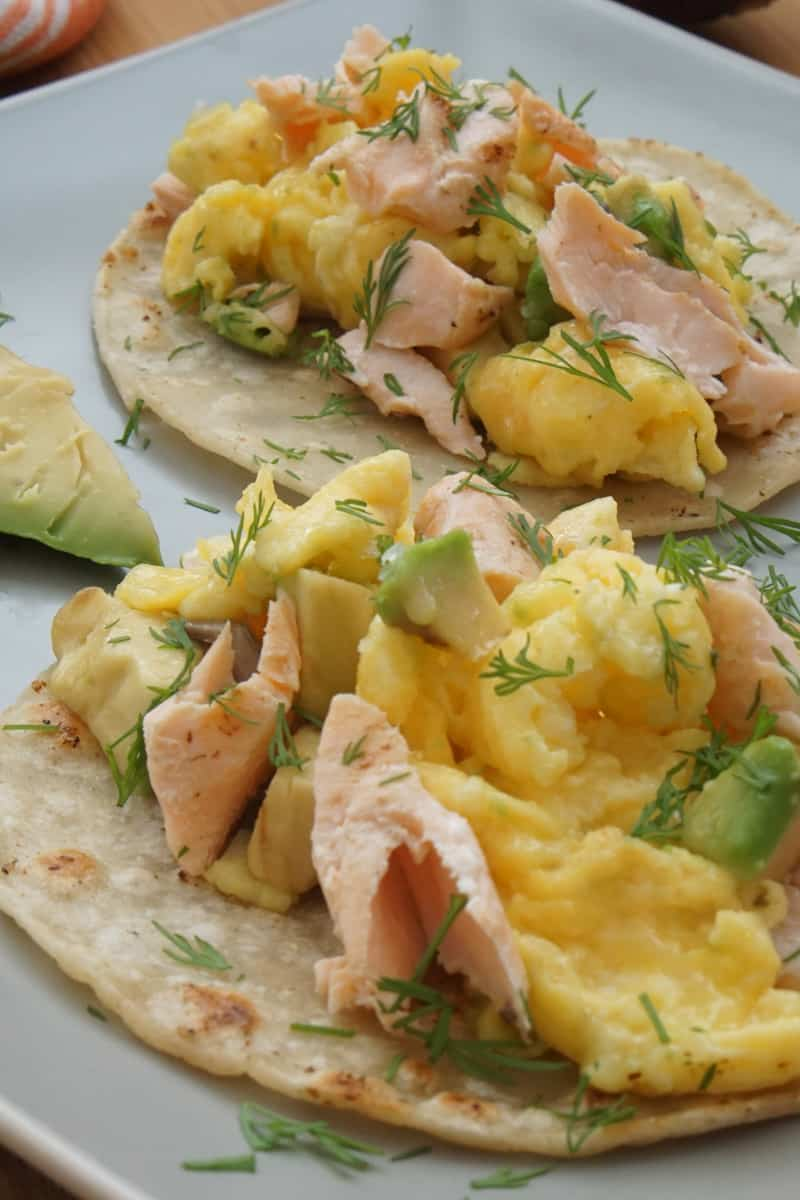 SALMON EGG AND AVOCADO BREAKFAST TACOS A FOOD LOVER S