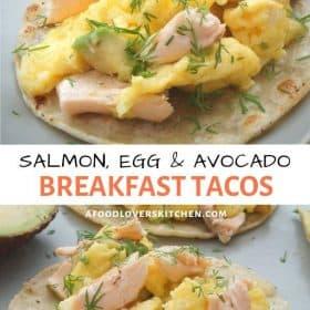 salmon scrambed egg tacos