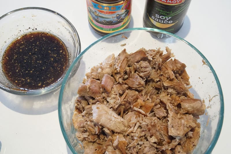 Pulled pork and Asian sauce