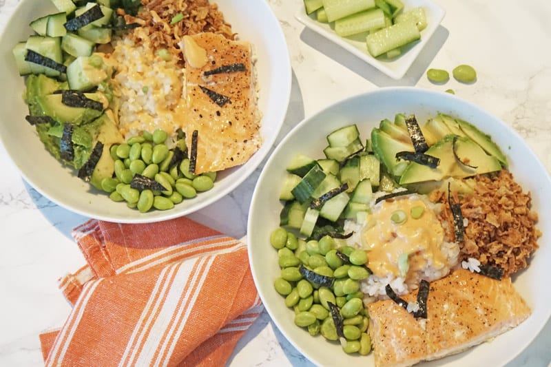 salmon donburi bowl