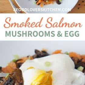 Mushrooms, Eggs and Smoked Salmon