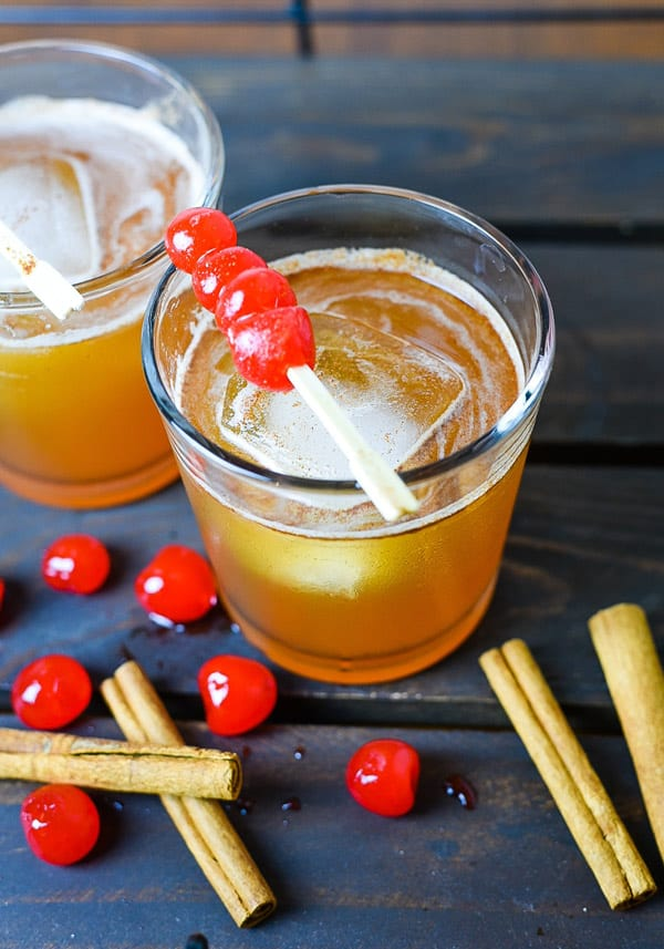 Cinnamon Maple Whiskey Sour