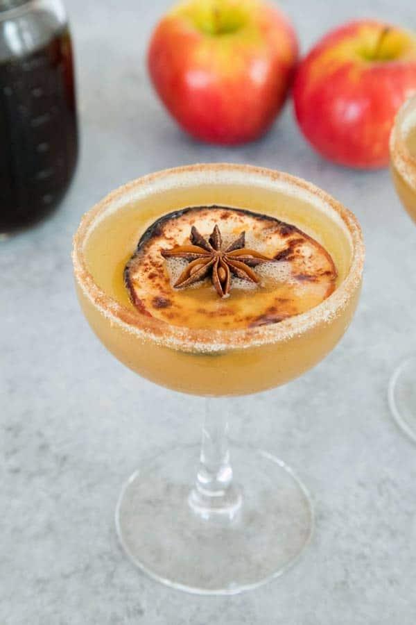 Holiday Spiced Honeycrisp Apple Cocktail