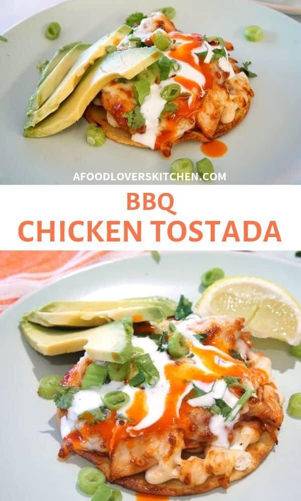 BBQ Chicken Tostada