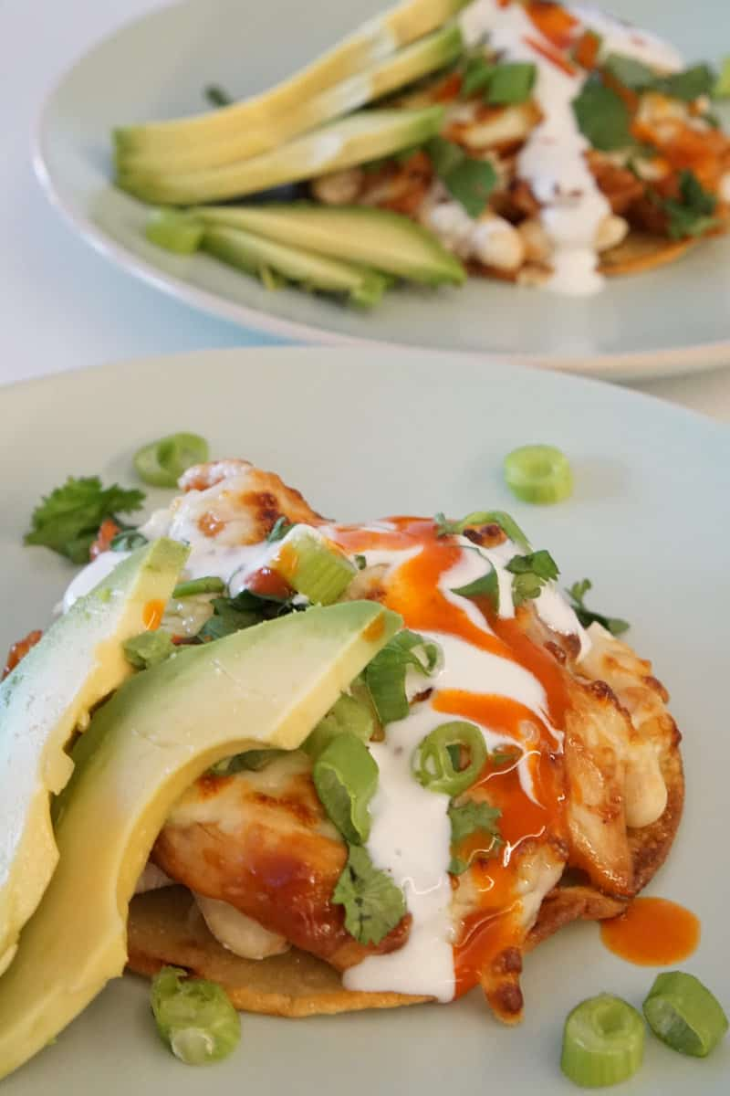 BBQ Chicken Tostada