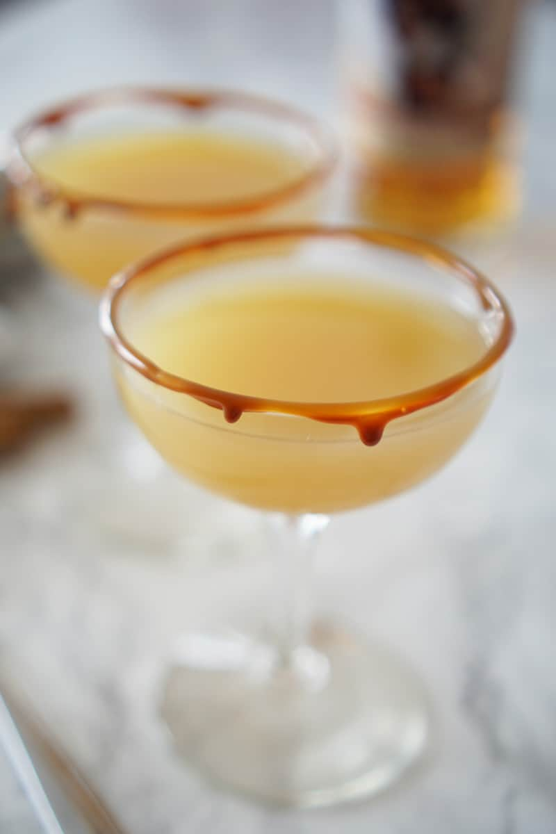 Caramel Apple & Spiced Rum Cocktail