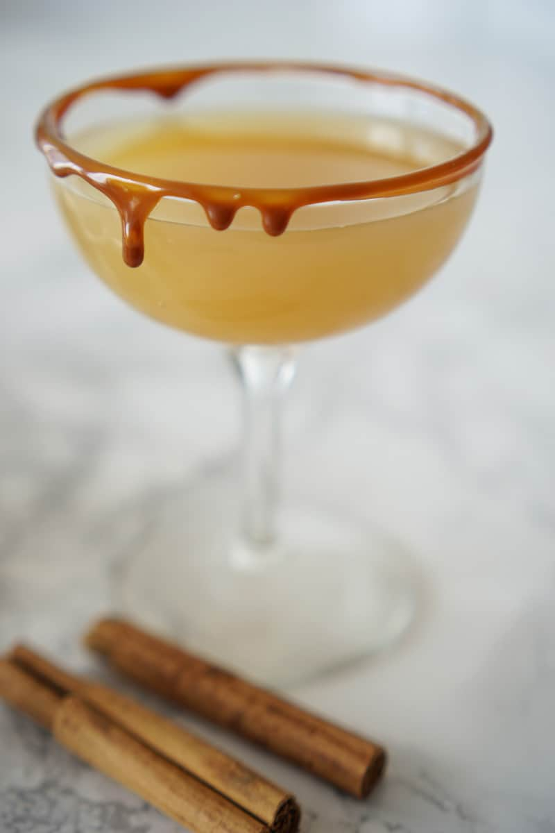 spiced rum cocktail