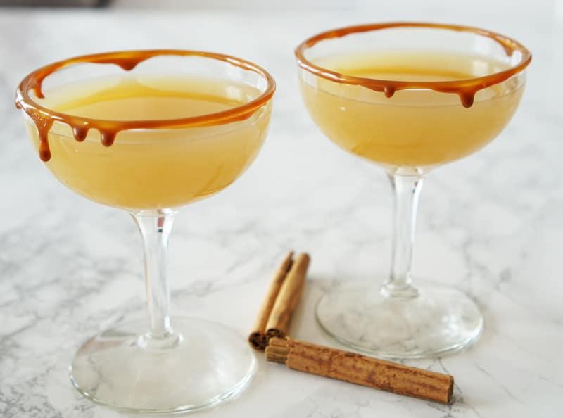 Caramel Apple & Spiced Rum Cocktail