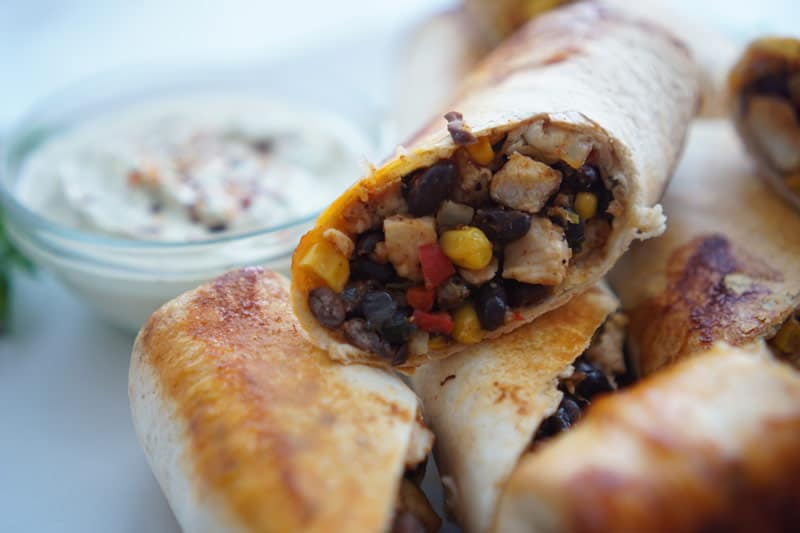 southwest egg rolls with chicken