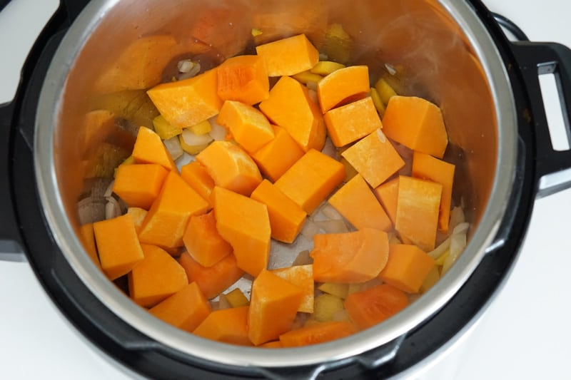 saute vegetables in the Instant Pot