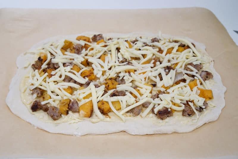 Butternut Squash & Sausage Pizza