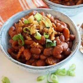 baked beans in the Instant Pot