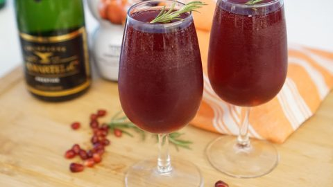 Pomegranate French 75 Cocktail | A Food Lover's Kitchen