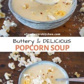 Buttery popcorn soup