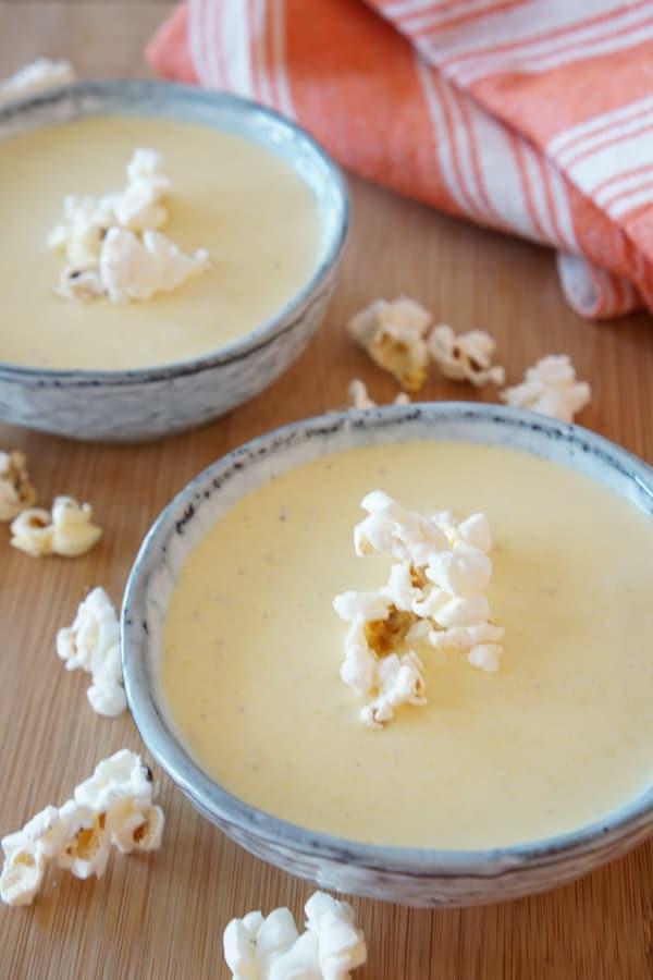 velvety popcorn soup
