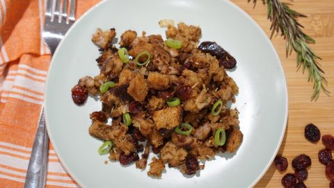 Buttery & Delicious Sausage and Cranberry Stuffing | A Food Lover's Kitchen
