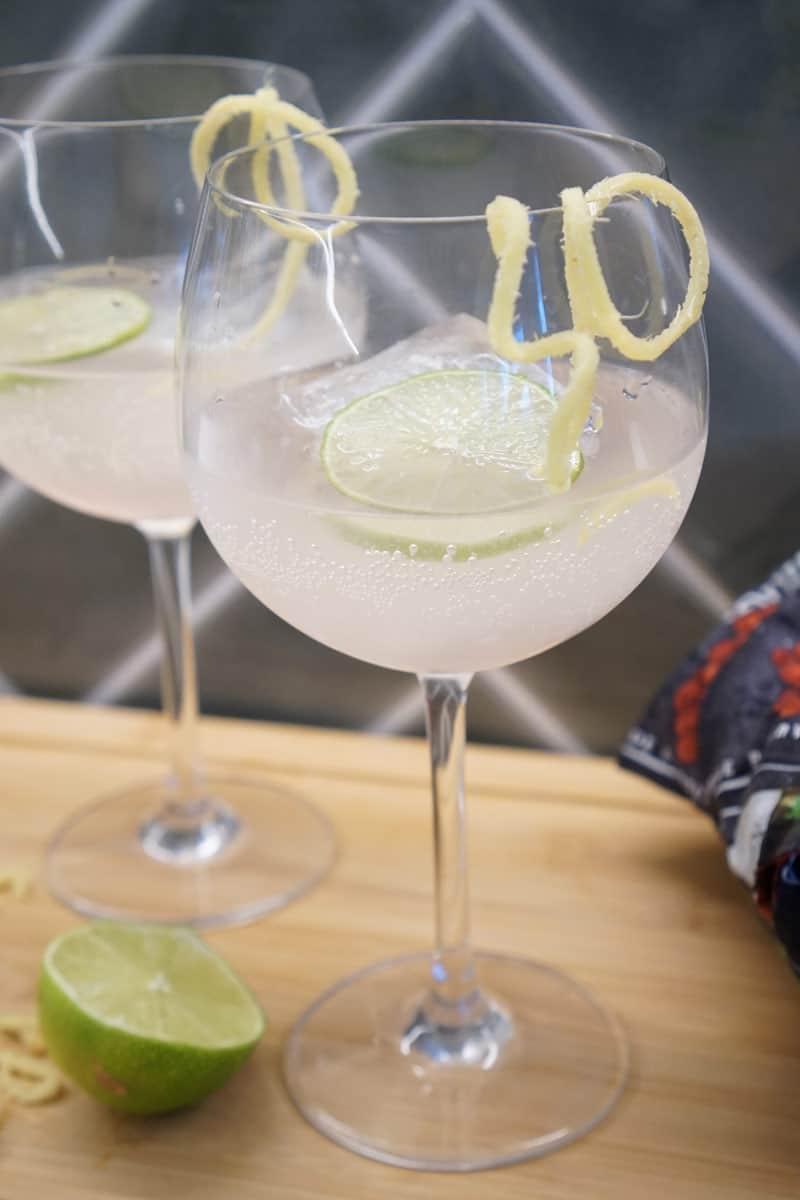 rhubarb ginger ale cocktail