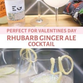 rhubarb ginger ale cocktail